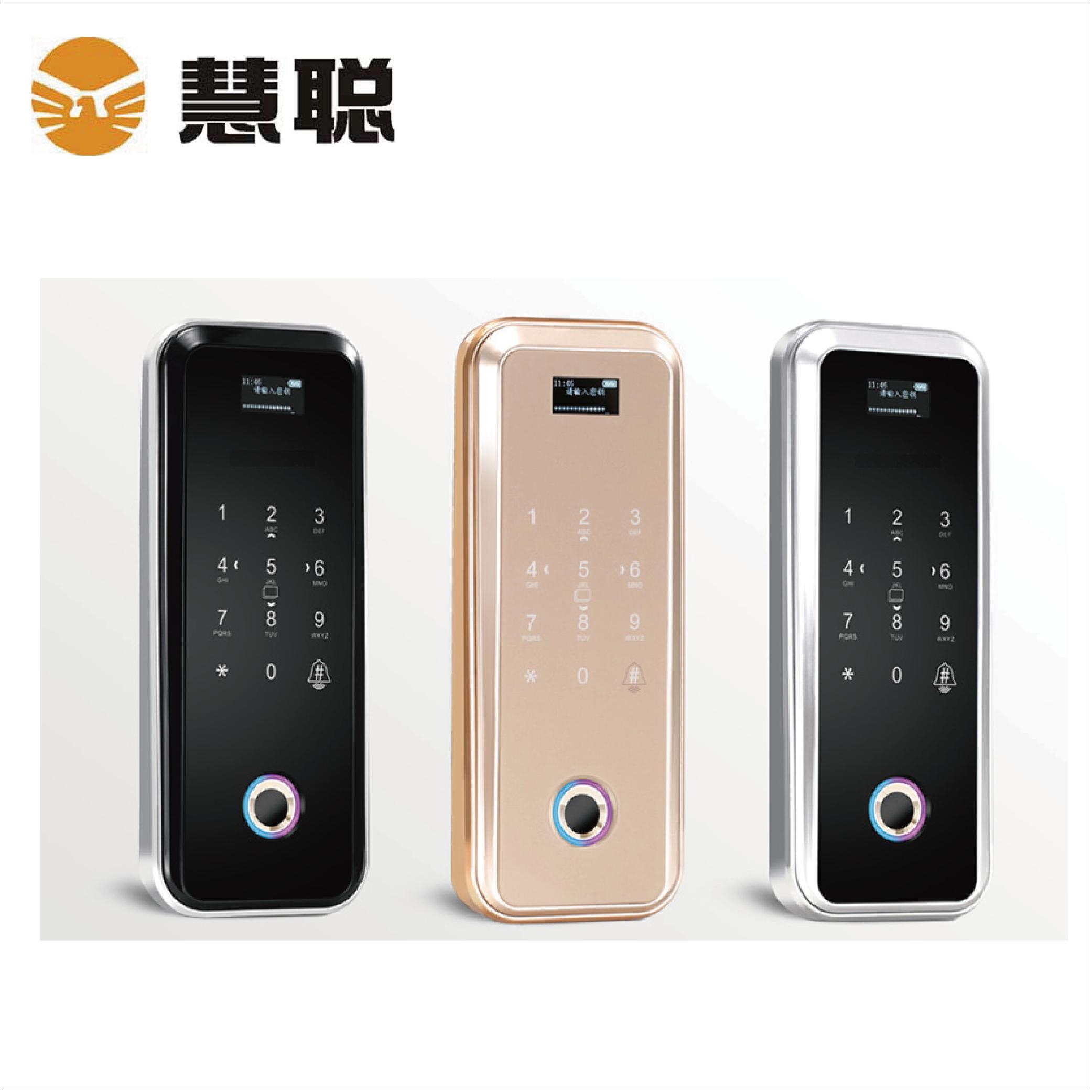 HC-669玻璃智能门锁指纹锁