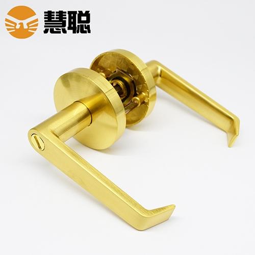 慧聪603SN三杆式卫生间门锁无钥匙三杆式执手通用门双面执手锁