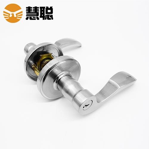 慧聪HC-604SN三杆式浴室门锁有钥匙无钥匙通用门左右孔双面执手锁